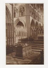 King Johns Tomb Worcester Cathedral, Judges 16866 Postcard, A880