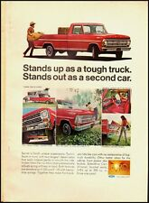 1968 Vintage ad for Ford Trucks/Red/Cowboy in ad (032213)