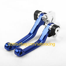 CNC Pivot Brake Clutch Levers For Yamaha YZ125 YZ250 2001-2007 Blue 02 03 04 05