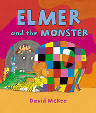 NEW  ELMER and the MONSTER  by David McKee ( a4 Paperback, 2015)