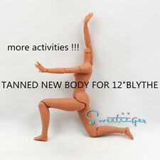 """Sweetiiger special new body tanned black 12"""" Blythe Factory Nude doll Custom Use"""