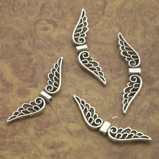 30pcs Tibetan Silver angel wing Charm pendants X0190