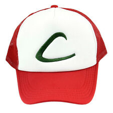 Anime Cosplay Pokemon Pocket Ash Ketchum Baseball Trainer Boy Cap Hip Hop Hat