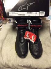 alpinestar sport riding shoe sp-1 bk/wt/rd/yl size 9