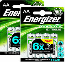 8 x ENERGIZER AA 2300 mAh ACCU RECHARGEABLE EXTREME BATTERIES HR6 NiMAH CAMERA