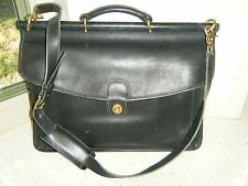 COACH Black Leather BEEKMAN Briefcase Laptop Bag-Vintage- 5266- Unisex