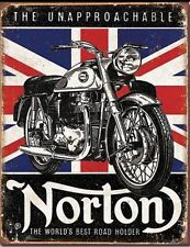 Norton Tin Metal Sign Unapproachable Motorcycles World's Best Road Holder