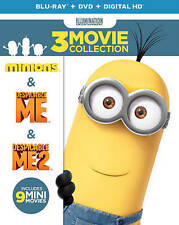 Despicable Me 1 & 2, Minions 3-Movie Collection (Blu-ray DVD Digital) Brand NEW!