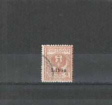 R1757 - LIBIA 1912 - ITALIANI SOPRASTAMPATI USATI  N° 2  - VEDI FOTO