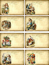 Alice In Wonderland Postcard Style ~ Card Toppers / Scrapbooking / Card Making
