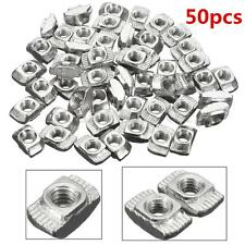 50Pcs Carbon Steel Zinc T-Nuts M4-20 Thread for 20 Series European Aluminum Slot