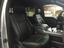 2015 2016 FORD F 150 SUPER CREW XLT BLACK KATZKIN LEATHER SEAT COVER COVERS