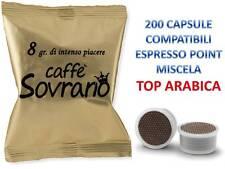 200 CIALDE CAPSULE CAFFE SOVRANO TOP ARABICO COMPATIBILE LAVAZZA ESPRESSO POINT