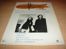 LED ZEPPELIN - JIMMY PAGE - ROBERT PLANT !!!FRENCH!!PUBLICITE / ADVERT