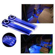 4x LED Car Interior Xmas Decorative Blue Light Bar With Cigarette Lighter Plug