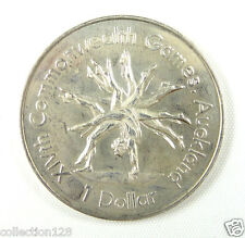 New Zealand Dollar Almost UNC, 1989, XIV Commonwealth Games, Gymnast