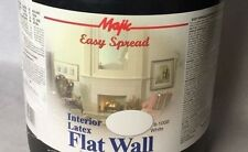 YENKIN 2 Gal MAJIC EASY SPREAD Int Latex Flat Wall Paint White great price