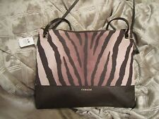 NWT COACH MADISON Zebra Convertible Hippie Brown Crossbody 51086 Bag Purse $178+