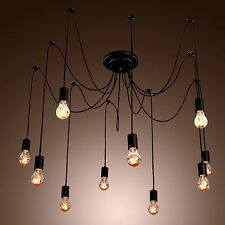 Vintage Edison Industrial Style DIY Chandelier Retro Pendant Light Ceiling Lamps