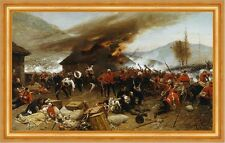 The Defence of rorkes Drift Alphonse de Neuville bataille feu combat B a3 00436