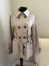 In Extenso classic double breasted peacoat trench coat new without tag size M