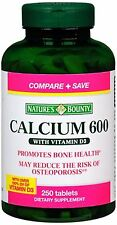 Nature's Bounty Calcium 600 With Vitamin D3 Tablets 250 Tablets