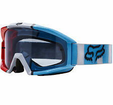 2017 FOX MAIN MOTOCROSS MX GOGGLES FALCON RED BLUE GREY tear-off enduro mtb