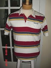 ABERCROMBIE&FITCH WHITE MULTI STRIPED POLOSHIRT SHORT SLEEVE 100% COTTON SIZEXL