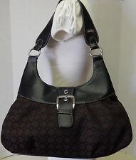 Nine West Black & Brown Hobo Shoulder Bag Handbag Satchel Tote Purse