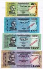 Bangladesh Specimen Bank Notes- 1000, 500, 100 & 20 Taka- Unc- signed Atiur