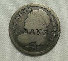 countermarked 1836 bust dime counterstamped