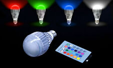 16 Colors Changing 9W magic E27 RGB LED Lamp Light Bulb + IR Remote Control EDS