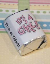 30 Baby Shower Its A Girl Hershey Candy Nugget Wrappers Stickers