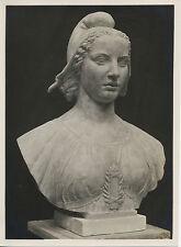 PHOTOGRAPHIE NOUVEAU BUSTE DE MARIANNE , SCULPTEUR PIERRE POISSON 1933