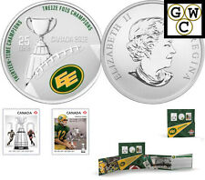 2012 'Edmonton Eskimos' CFL Colorized 25-Cent Coin and Stamp Set (13046)