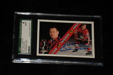PIERRE PILOTE & BOBBY HULL 1992 ULTIMATE SIGNED AUTOGRAPHED CARD #5 SGC SLABBED