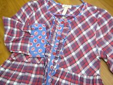 MATILDA JANE Friends Forever Harper Tunic Plaid Top Shirt Size 12 or size 14