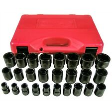 "K Tool 38101 26 Piece 1/2"" Drive Metric 6 Point Short Impact Complete Socket Set"