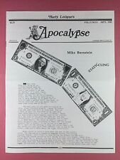 Harry Lorayne's APOCALYPSE - Magicians Newsletter  Vol.11 / No.9 - 1988 - Magic