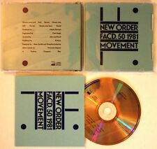 New Order Movement UK Factory 1st Ed CD + Car Carry Case! Joy Division