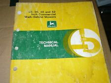 """John Deere Technical Manual for 32,36,48, and 52"""" commercial walk behind mowers"""