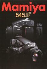 Prospekt Katalog Mamiya 645 AF 2002 Foto Mittelformat Kamera brochure camera