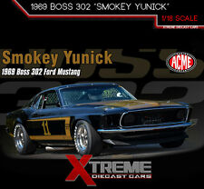 ACME A1801816 1:18 1969 FORD MUSTANG BOSS 302 SMOKEY YUNICK TRANS AM RACING