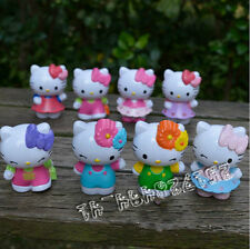 8pcs/Lot hollow Hello Kitty Figure
