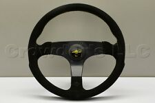 Nardi Personal Fitti Corsa Steering Wheel - 350mm - Black Suede Leather