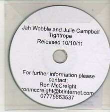(CU675) Jah Wobble & Julie Campbell, Tightrope - 2011 DJ CD