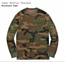 Supreme Camo Waffle Thermal SS16 Size Medium New 100% Authentic