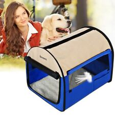 Outdoor Portable Dog Crate Tote Canvas Travel Kennel Carrier Pet Cage 24inch FTM