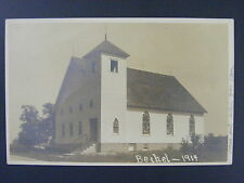 Bethel Ohio OH Church Stained Glass Windows Real Photo Postcard RPPC 1914