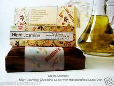 GJ's Night Jasmine Glycerine Soap - Set of 2 Soap with Soap Dish - ( 300 g)